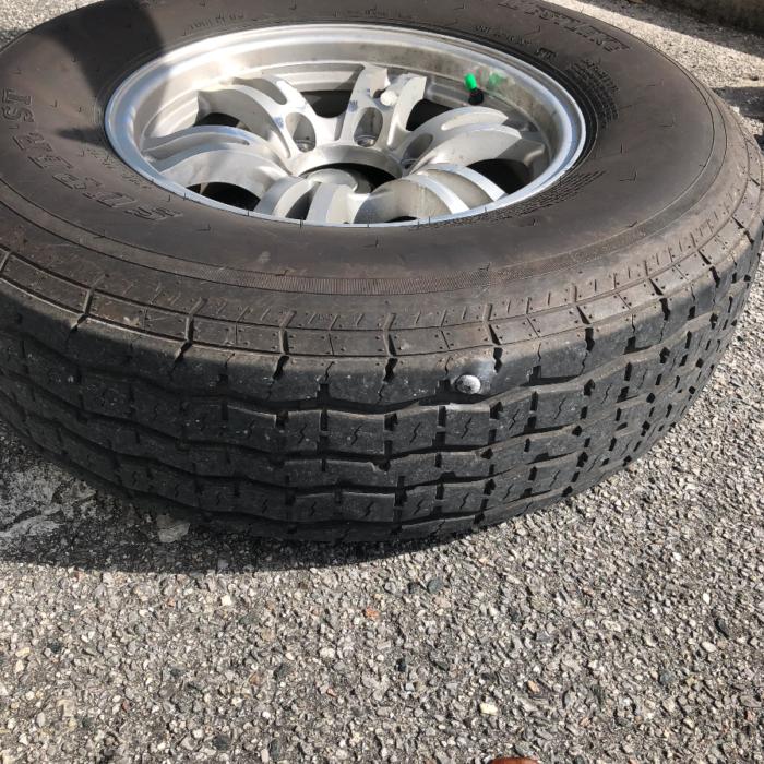 Spike in RV tire