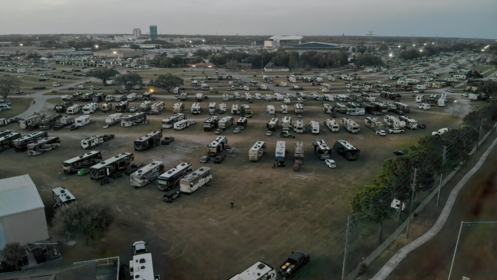Boondocking at the Tampa RV Show